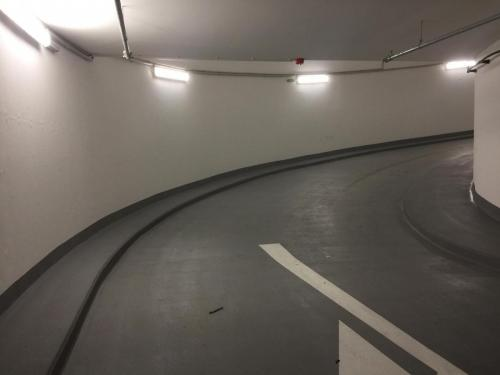 Installation and connection of garage lighting